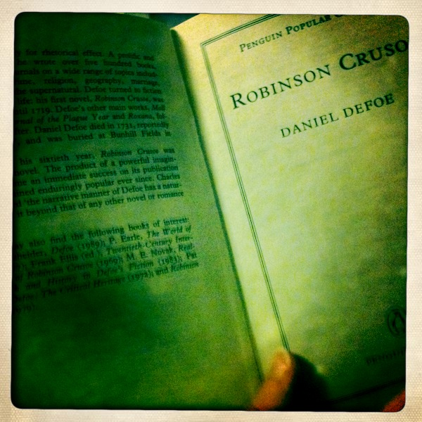 an analysis of daniel defoes realistic novel robinson crusoe Defoe's robinson crusoe (1719) initiated one of the best-known western   downie's book remains the standard study of defoe's role in the.
